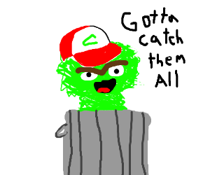 oscar the grouch tries to be ash ketchum