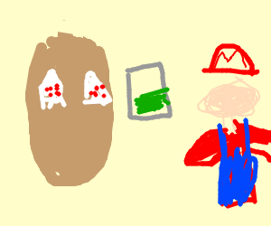 Baked potato begs Mario for weed
