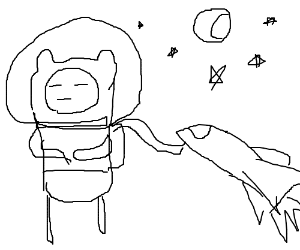 Adventure time astronaut king elf monkey?