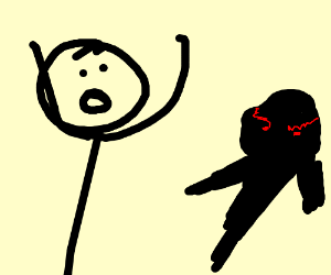 Man scared of ominous shadow