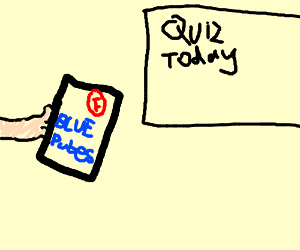 blue pubes as my answer to the quiz