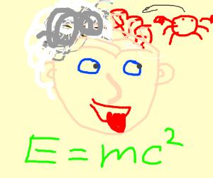 Einstein claims to have brain cancer