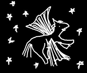 Proud Pegasus among the stars
