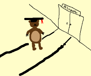 educated bear goes to school