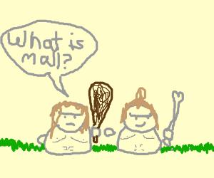 Caveman kids at the mall! :D