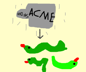 Acme weight falls on snakes