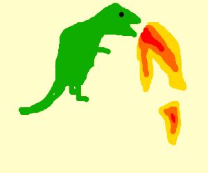 Fire-Sneezing Dinosaur