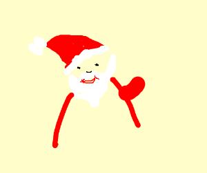 Santa's happy