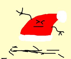 santa's hat has mutated