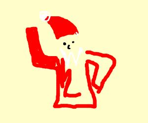 santa's does a little dance