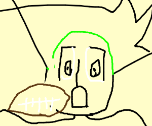 Anime guy hit by football