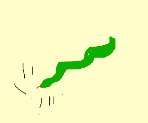 overly aggressive snake