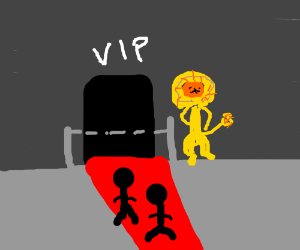 lion bouncer guards the v.i.p. room