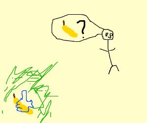A like'd banana being ridden