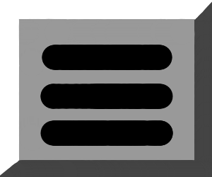 Button with three horizontal lines