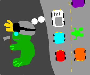 frogger becomes a miner