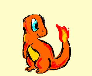 charmander is excited about fire