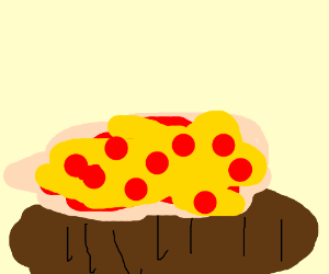 Pizza on a bagel