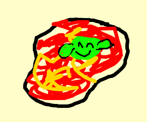 A slime swimming in lava