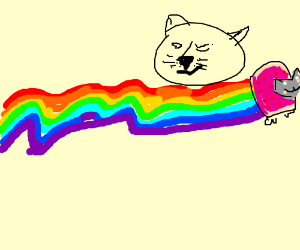 Doge and Nyan Cat on bath-salt legal highs