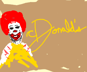 Ronald takes place of Mcdonalds M