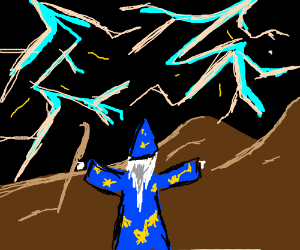 mighty wizard summons thunderstorm