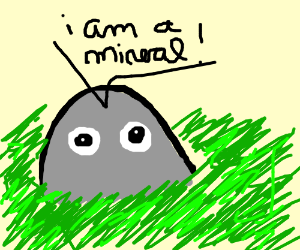 They're minerals, not rocks!