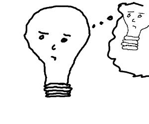 When a lightbulb has an idea....