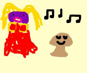 Jynx sings to a Mushroom