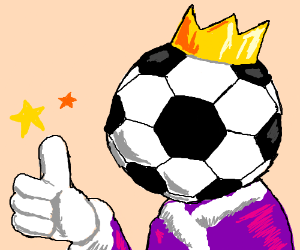 Football-headed prince approves