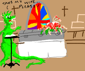 I Dino why anyone would joke at a eulogy.