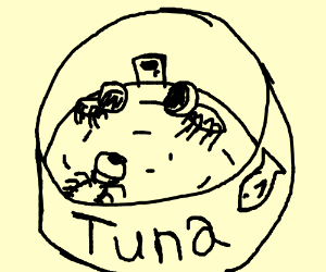 space spiders in tuna can space ship