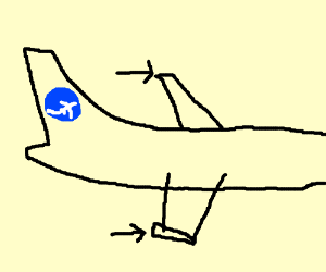 Aircraft winglet (part of a wing on a plane)