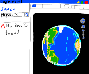 Can't find Hogwarts on Google Earth - Drawception