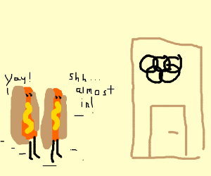 hotdogs sneak into olympics