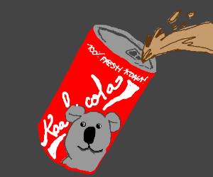 Soda made of koalas