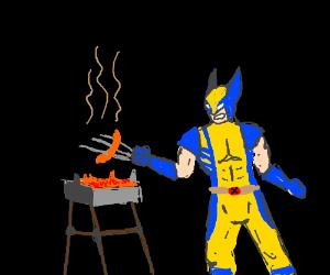 wolverine BBQ-ing