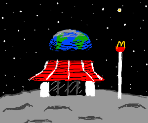 The moon now has a fast food chain: McDonlads