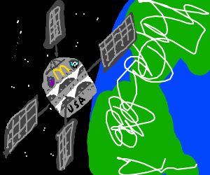 McDonalds creates Burger Star space station.