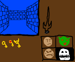 First-person dungeon-crawler game.