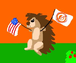 Patriotic porcupine is against bitcoins
