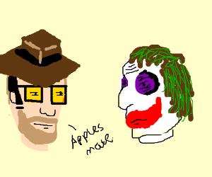 An australian guy meets the Joker