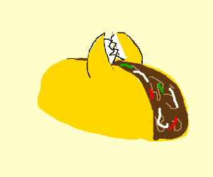 taco with pincers