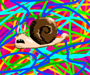 LSD snail with spikey shell