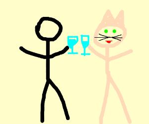 Stickman's Toast to Pink Speedo Catman?