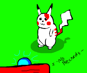 pikatchu as the albino warrior from god of war