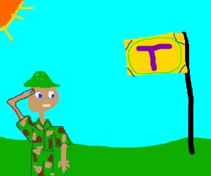 Army man praises flag of 'T' nation