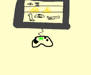 Hieroglyph video game.