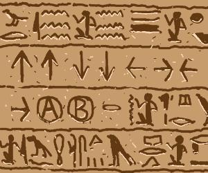 Contra code hieroglyphs.