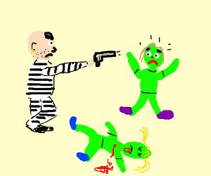 criminal shooting green children